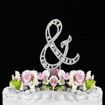 Monogram Cake Toppers Modern Vintage Crystal Cake Topper Silver Letter b... - $12.13