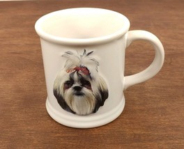 Shih Tzu White Coffee Tea Glass Mug - $12.59