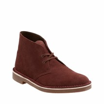 Clarks Bushacre 2 Men's Leather Boots Bordeaux Suede Men's Office Wear 2... - $74.95