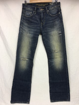 NEW Men's AMERICAN EAGLE Classic BOOT Jeans DESTROYED Medium Wash 30x34 AE - $38.95