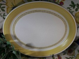 Franciscan Hacienda Gold Vintage Oval Serving Platter 11 1/4 x 13 3/4 - $29.70