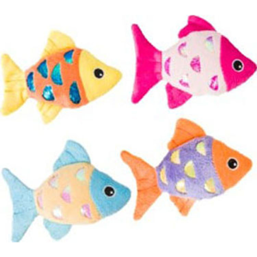 Ethical Assorted Shimmer Glimmer Fish W/catnip Cat Toy 4.5in 077234520758