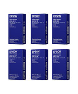 Qty. 6: Epson Printer ERC-32B Black Ribbon Cartridge For TM-H6000II & TM... - $17.82