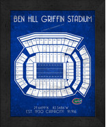 "Florida Gators Ben Hill Griffin""Retro"" Stadium Seating Chart 13x16 Frame... - $39.95"