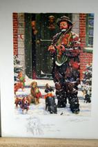 Unique Signed Artist Proof Leighton Jones Emmett Kelly Christmas Carol Scrooge image 2