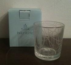 PartyLite Circles Clear Glass Modern Geometric Votive Candle Holder Reti... - $8.90