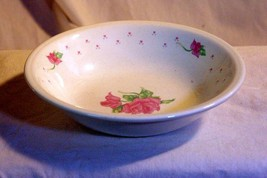 Tabletops Unlimited Pink Rose And Hearts Cereal Bowl - $3.46