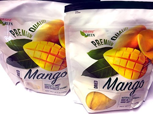 Primary image for Paradise Green Dried Mango Premium Quality 35 Oz (2 Pack)