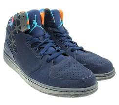 NIKE Air Jordan 1 Flight 3 Mens Navy Blue Hi Top Sneakers Size 13 743188... - $69.29