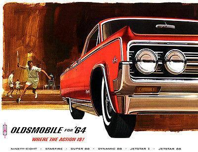 Primary image for 1964 Oldsmobile Olds 98 - Promotional Advertising Poster