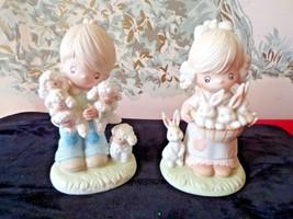 2 Vintage HOMCO-Home Interiors-Boy & Girl Figures #1444 - $19.80