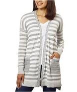 Calvin Klein Jeans CK Cardigan XL Open Front Long Gray Cotton Sweater St... - $24.95