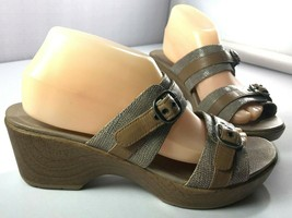 Dansko Sandals Womens Jessie Lizard Sand Print Size 40 Shoes 9.5 - 10 - $49.45