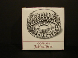 "Gorham West Germany Full Lead Crystal Round Bowl - Althea – 5 3/4"" - $9.99"