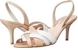 Women's Shoes Kate Spade SASHA Slingback Sandals Crossed Straps Patent Powder - $183.60