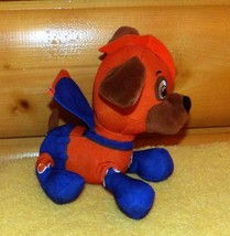 """Paw Patrol Plush 7"""" Chocolate Lab ZUMA in Orange & Blue Rescue Outfit with Cape - $10.89"""