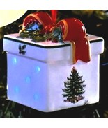 """Spode Christmas Tree Multi Color LED """"2016"""" Gift Box Ornament New in Box - $19.99"""