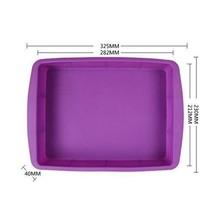 Rectangular Silicone Baking Tray Bakeware Cookie Pan Non Stick Ultra Dur... - $14.37