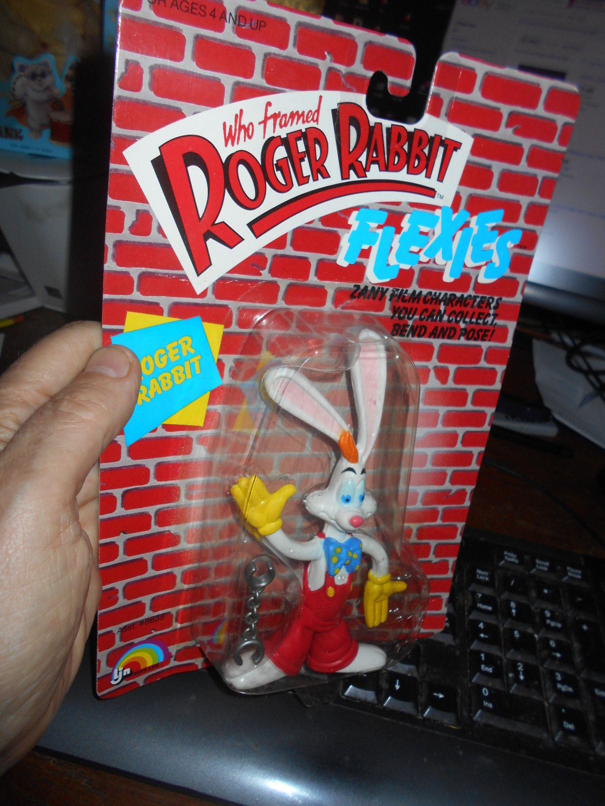 Who Framed Roger Rabbit FLEXIES TOY IN PACKAGING LJN 1988 NY