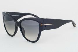 Tom Ford Anoushka Shiny Black/ Gray Gradient Sunglasses TF371 01B - $244.02
