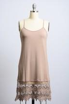 Mocha Lace Slip Dress, Lace Trim Dress, Dress Extender, Slip Extender, Womens image 2