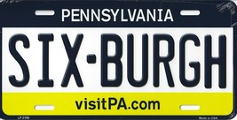 Steelers Pennsylvania State Background Metal License Plate Tag (Sixburgh) - $11.95