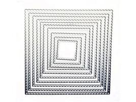 Scalloped Square Dies, Set of 10