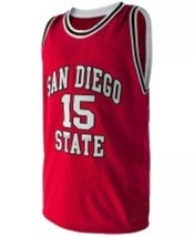 Kawhi Leonard #15 College Basketball Custom Jersey Sewn Red Any Size image 4