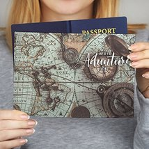 WolfCases World Map Leather Passport Cover Travel Wallet Holder Protecti... - $23.09