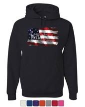 Distressed American Flag Hoodie Land of the Free 4th of July Sweatshirt - $21.94+