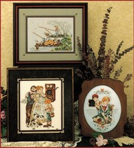 Cross Stitch The Good Old Days Playing Hookey 1st Crush Sunday Bonnets P... - $12.99