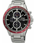 Seiko SSC433P1 Solar 43mm Chronograph Stainless Steel Men's Watch - Silv... - $168.29