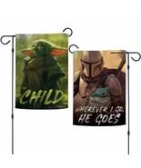The Mandalorian / Star Wars WHEREVER I GO HE GOES, THE CHILD 2 Sided Gar... - $13.50