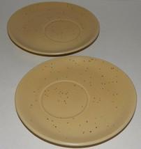 2 Studio Nova Domani Beige  Saucer Mikasa Brown Tan Speckled Oval MW002 - $22.76