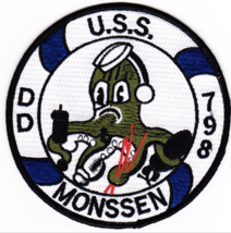 "4.5"" NAVY USS DD-798 MONSSEN EMBROIDERED PATCH - $23.74"