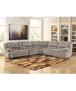CLARA-Modern Gray Microfiber Reclining Sofa Sectional Set Living Room Fu... - $2,025.73