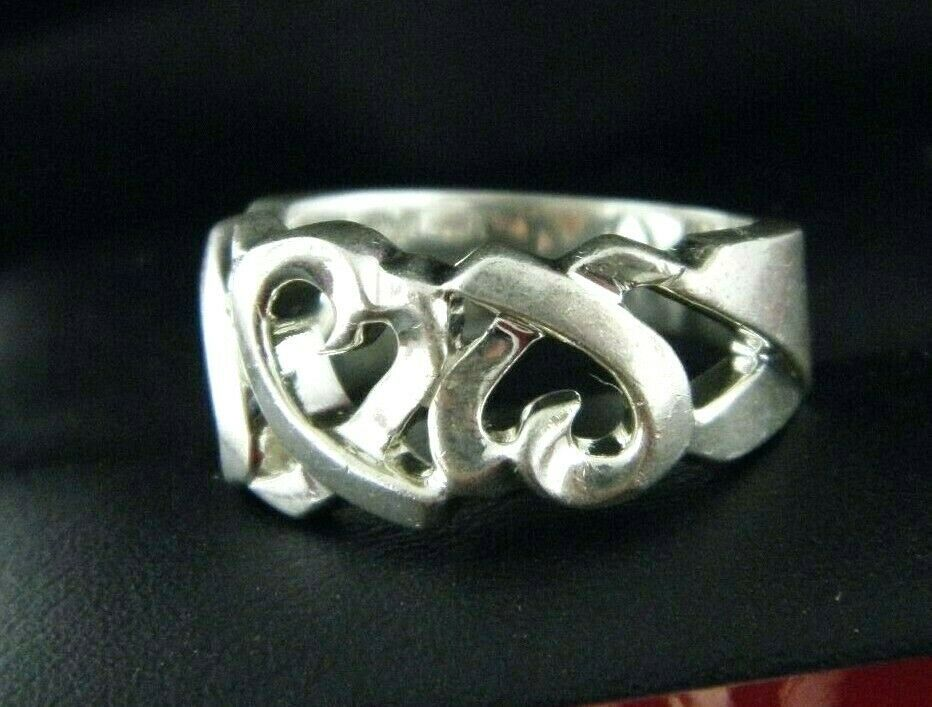 5c9f2b8f9fd03 Tiffany&co, Paloma Picasso Amoureux Heart Ring Argent Sterling / Sz 7 -  $87.21