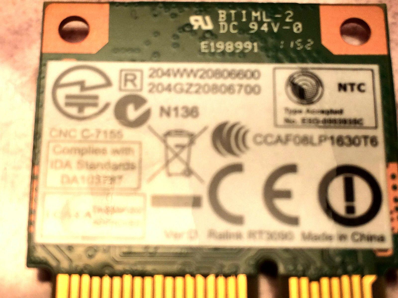 Ralink RT3090 802.11b/g/n PCI-E Half mini Wireless RT3090-1T1R New image 3