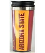 NCAA Arizona State Sun Devils Travel Mug Cup 16oz Reusable Tailgate Part... - $10.88