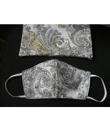 Face Mask & Pouch Bag 3 Layer Protection Handmade Custom Fabric #2 Baroque - $16.00