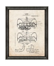 Propeller Patent Print Old Look with Black Wood Frame - $24.95+