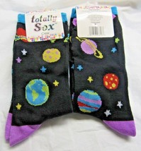 1 Pair Space Crew Socks Size 9-11 by totally Sox - $5.99