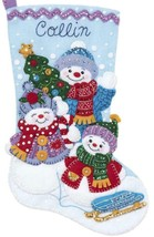 Bucilla Snow Family Portrait Snowman Christmas Holiday Felt Stocking Kit... - $38.95