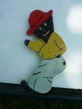 Vintage Black Americana Wooden Outdoor Swinger Figure Decoration  S-12 - $29.02