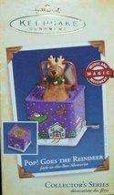 2005 Pop Goes the Reindeer Jack in the Box Memories #3 in Series Hallmark Orname - $9.90