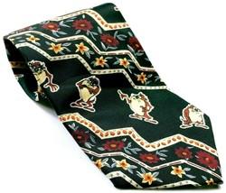 Looney Tunes Tasmanian Devil Taz Floral Men's Necktie Novelty - $12.00