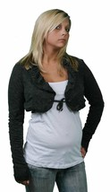 Anama Long Sleeve black Bolero Jacket w/white Tank Top