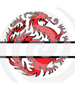 Dragon Split Monogram 3smp-Digital Clipart-Gift Cards-PNG-Banner-Jewelry... - $1.99