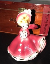 "Vintage Josef Originals Girl w/Hat & Muff ""January Doll Of The Month"" Figurine - $23.75"