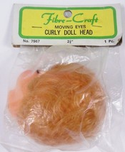Fibre Craft Moving Eyes Curly Blonde Doll Head 2.5 inches #7567 Sealed - $9.89